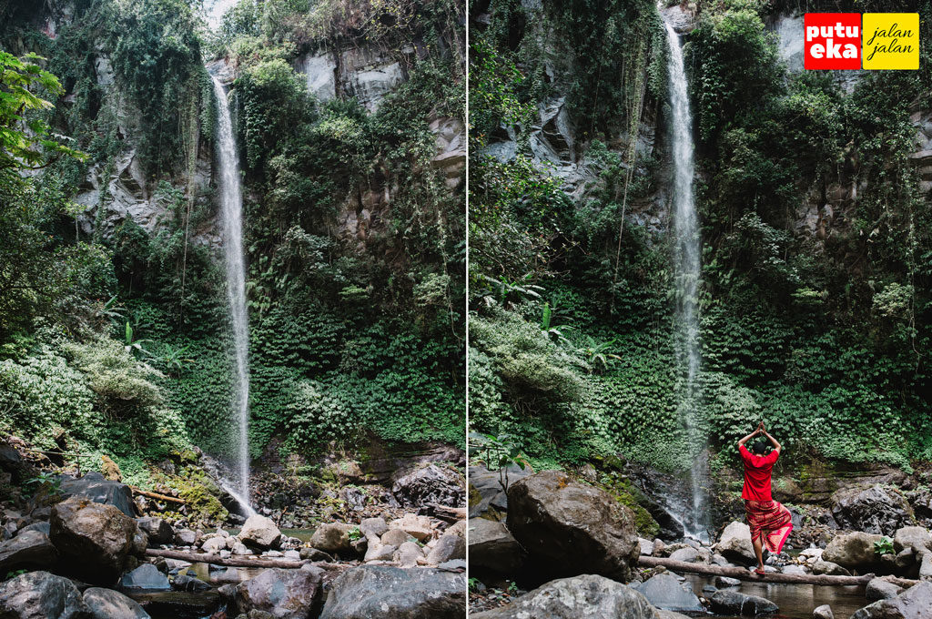 Putu Eka Jalan Jalan berada di Air Terjun Blemantung Pujungan Pupuan Bali