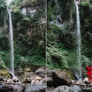 Air Terjun Blemantung Mengalir dari Ketinggian Kebun Kopi