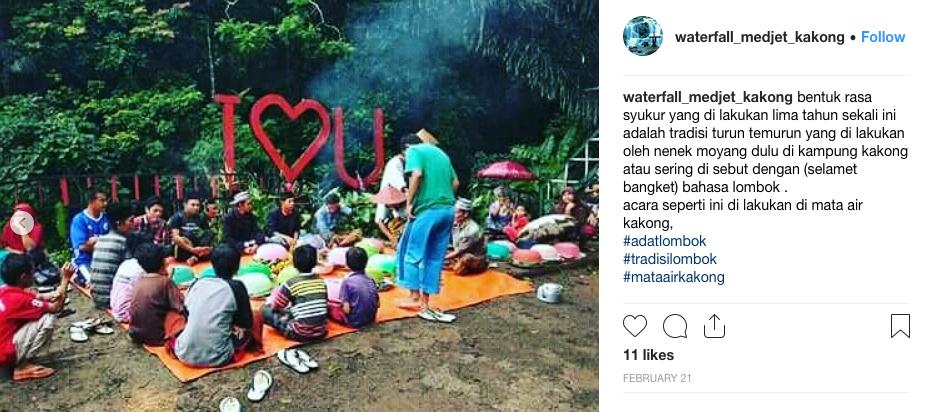 Acara Selamet Bangket yang dilakukan di Mata AIr Kakong