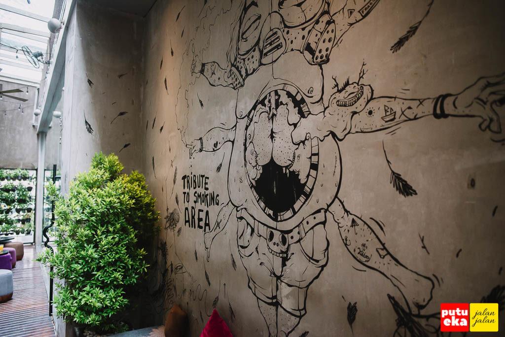 Mural tribute ke area merokok