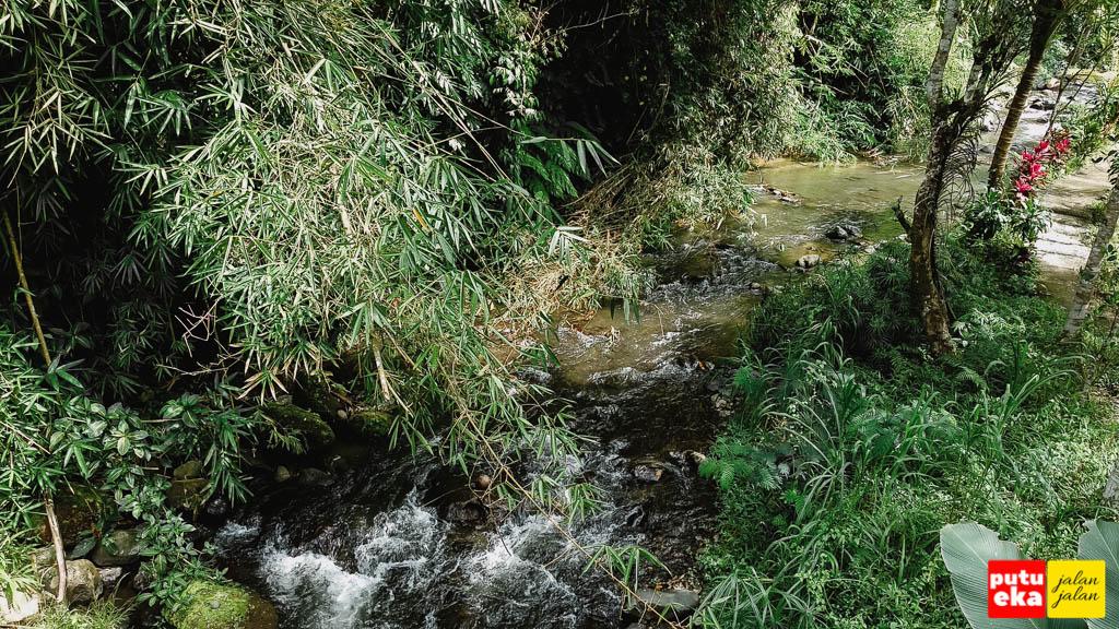 Aliran sungai kecil sepanjang jalan menuju air terjun