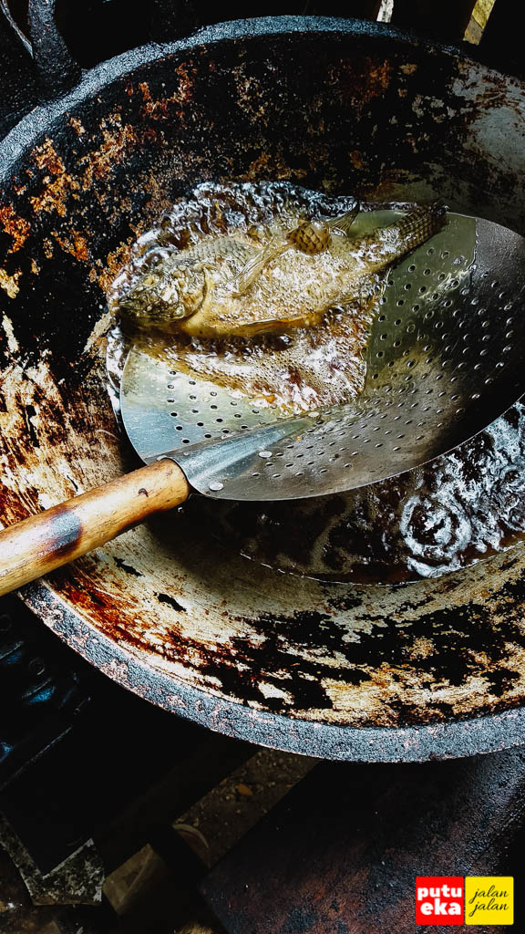 Ikan Nila sedang digoreng