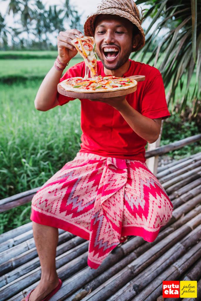 Pizza yang menggoda untuk disantap