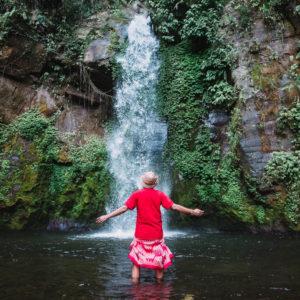 Air Terjun Gong Batu Lantang dengan Gong Keramat