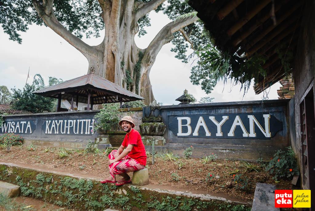 Wisata Kayu Putih Bayan disamping Pura Babakan